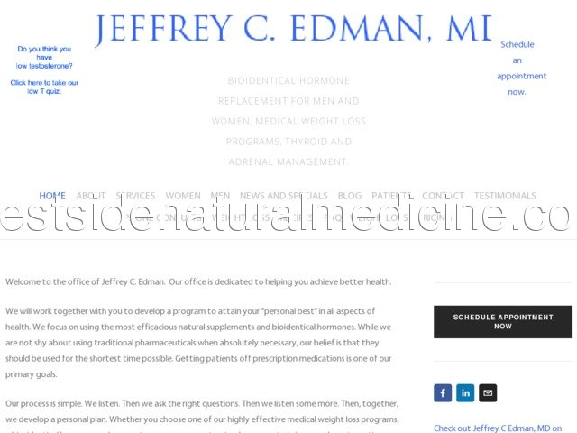 Http Edmanclinic Com New Page Weight Loss Programs Jeffrey C Edman Md Hormone Replacement Medical Marin County East Bay
